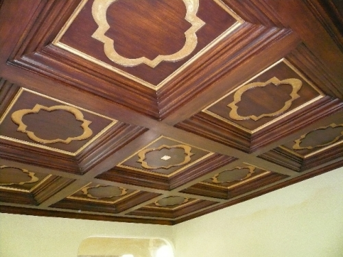 Decorative foam for ceilings for Foam coffered ceiling