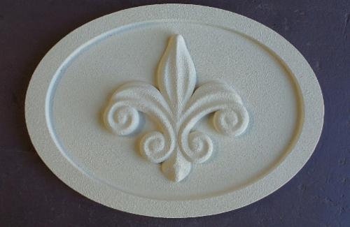 fm 51 oval fleur dis lis foam medallion this foam medallion is 26 high
