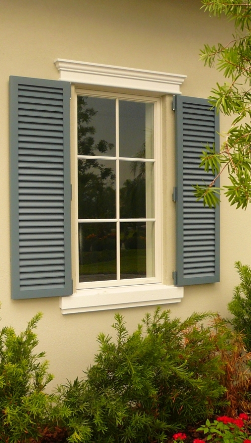 Decorative foam moldings for Window header