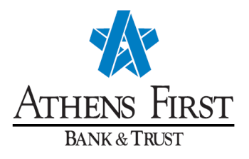 <B>Athens First Bank & Trust</B>